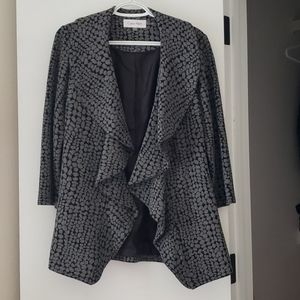 Calvin Klein Spotted Open Blazer with 3/4 sleeves